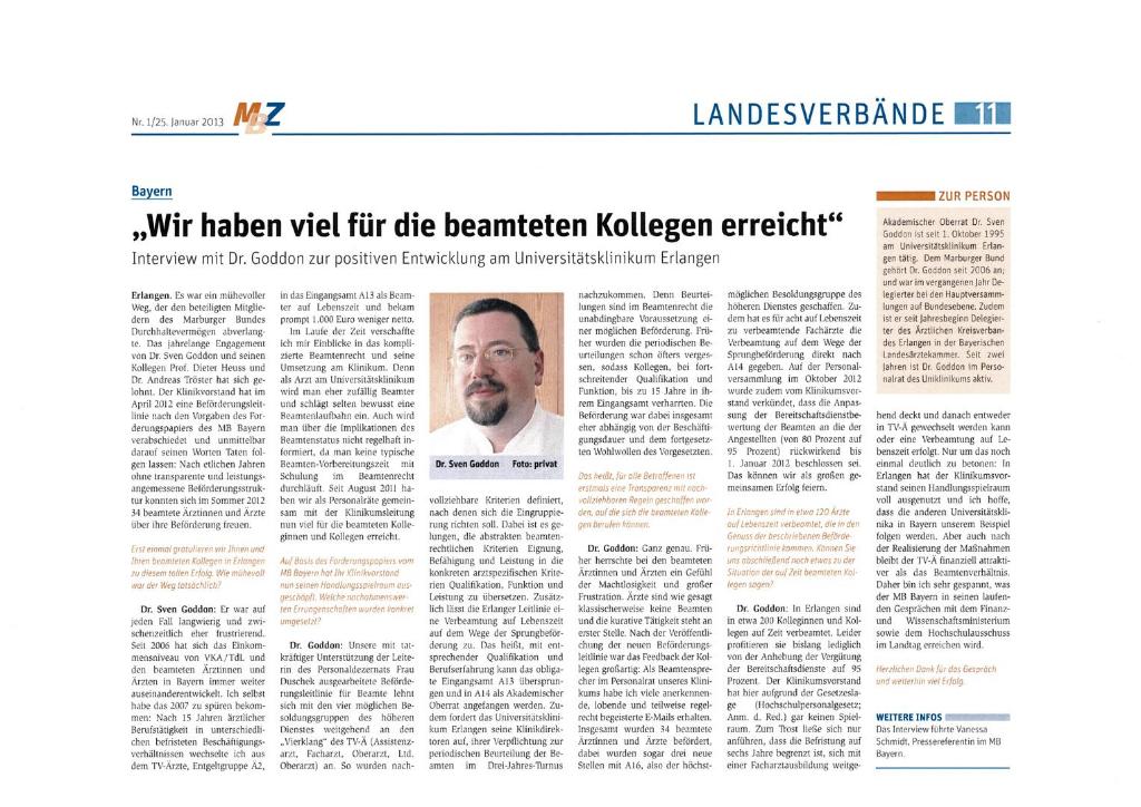 Interview zum Forderungspapier für Beamte mit Dr. Sven Goddon